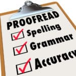 Why bother proofreading your work?